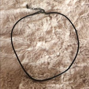 Pandora Black Leather Cord Necklace